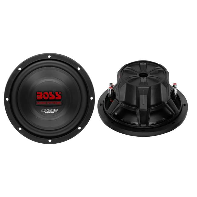 CH10DVC + VM10SEALED + AR16002 +AKS8 Boss CH10DVC 10-Inch 3000W Subwoofers with Sealed Box Enclosure with Amp with Amp Kit (Pair) 1
