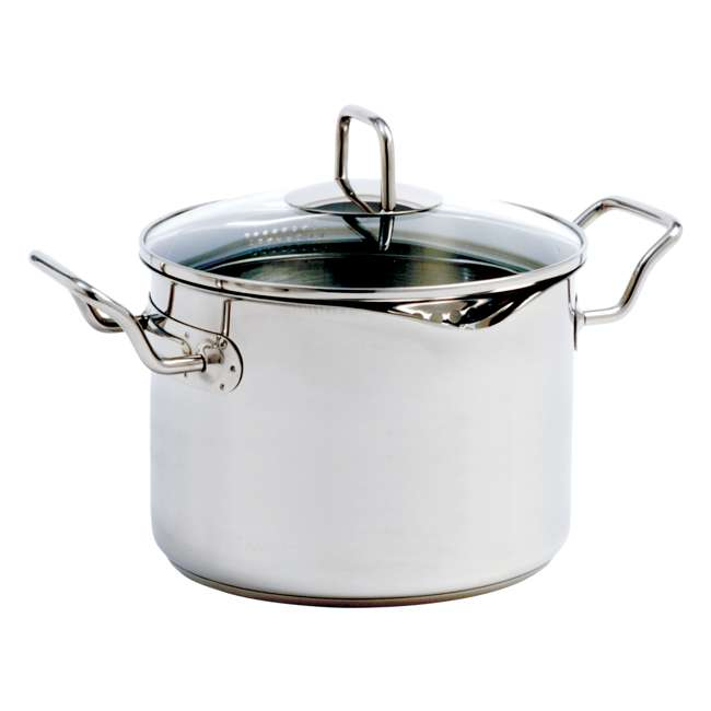 660 Norpro 660 Krona Stainless Steel 7.5 Quart Vented Cooking Pot with Straining Lid