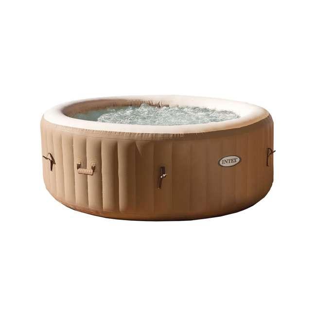 28403E + 28501E + 28523E Intex PureSpa 77 Inch 4 Person Inflatable Hot Tub Spa with Headrest & Cover 1