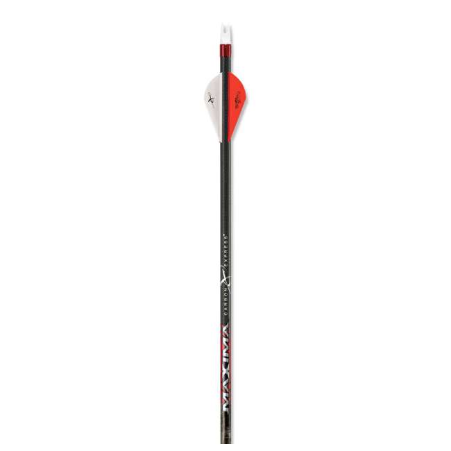 """50690 Carbon Express Maxima 250 32.5"""" Bowhunting Arrow Shafts with Fletching, 12 Pack 1"""