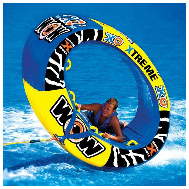 12-1030 Wow Sports 3-Person XO Extreme Towable Rider Tube, Blue 5