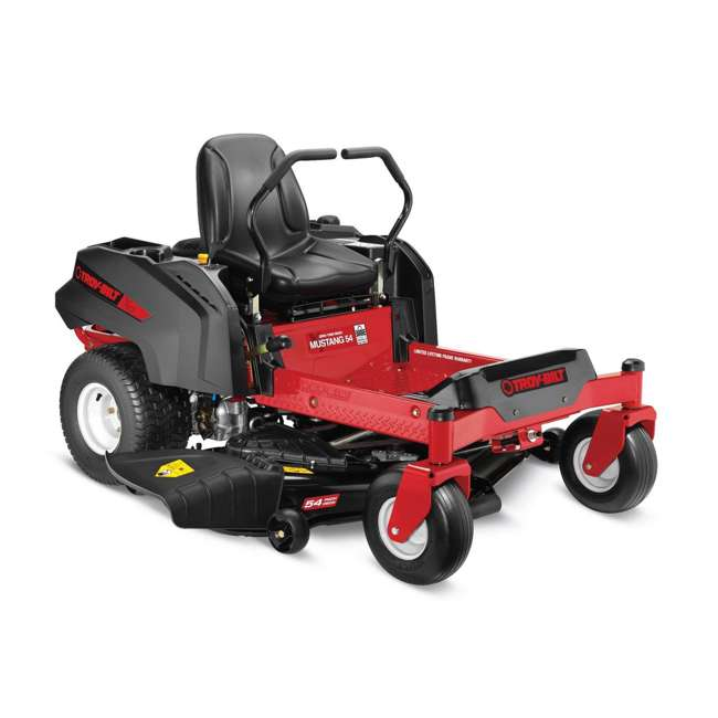 TB-17CDCACW066 Mustang 54 Zero Turn Residential Riding Lawn Mower, Red