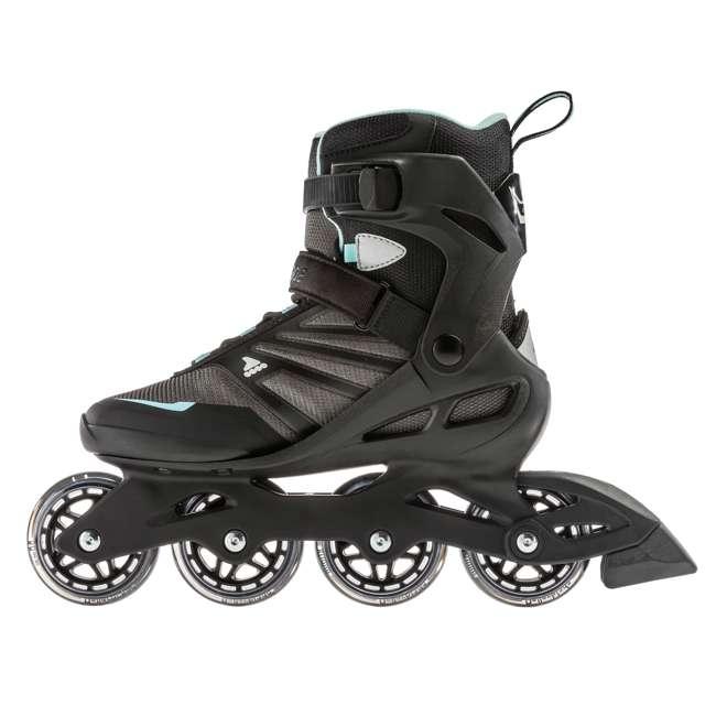 7958700821-8 + 06320200001-M + 067H0310800-L Rollerblade USA Women's Size 8 Rollerblades + Pads + Helmet 2