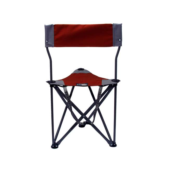 1489V2R TravelChair Ultimate Slacker 2.0 Portable Outdoor Folding Stool Seat Chair, Red 1