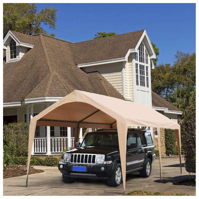 APGP10206B-U-A Abba Patio 10 x 20 Foot Portable Outdoor Carport Canopy -6 Steel Legs (Open Box) 2