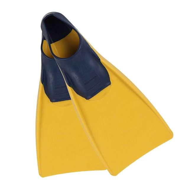 240790-US U.S. Divers Sea Lion Size Medium Floating Snorkeling Fins, Yellow