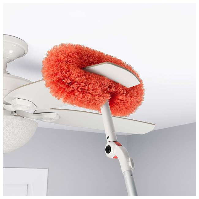 12183600 OXO Good Grips 3-In-1 Extendable Long Reach Microfiber Dusting System, Orange 2