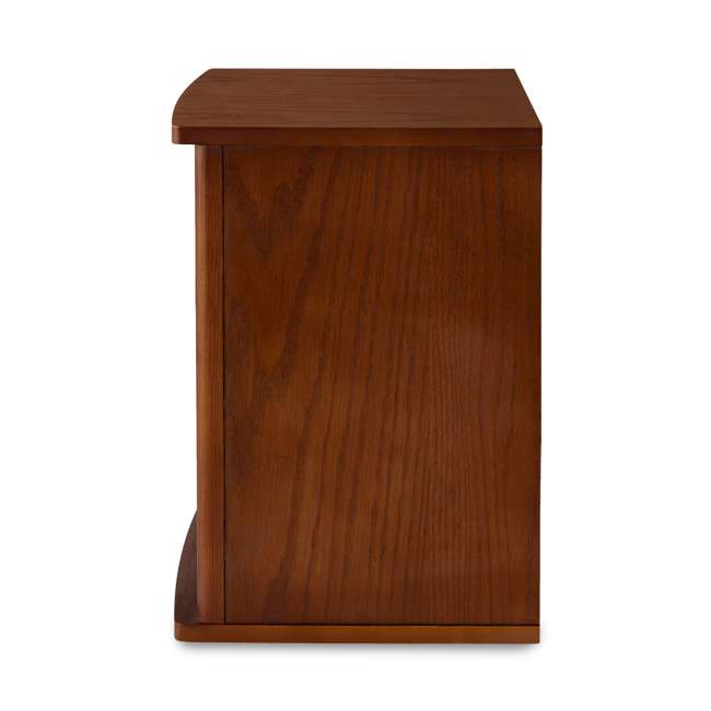 LIM-19-100004-U-B Limina Electric 1500W Infrared Quartz Cabinet Space Heater, Dark Walnut (Used) 5