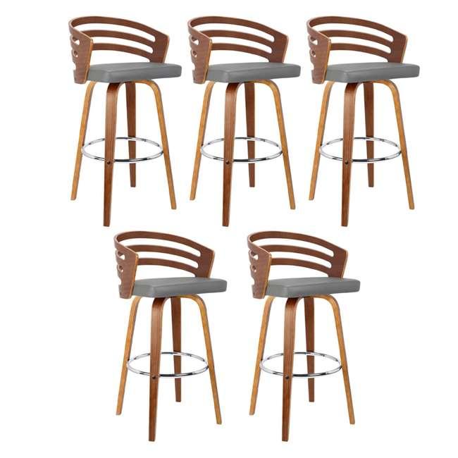 5 x LCJYBAGRWA30 Armen Living Jayden 30 Inch Mid Century Swivel Barstool Chair, Gray (5 Pack)
