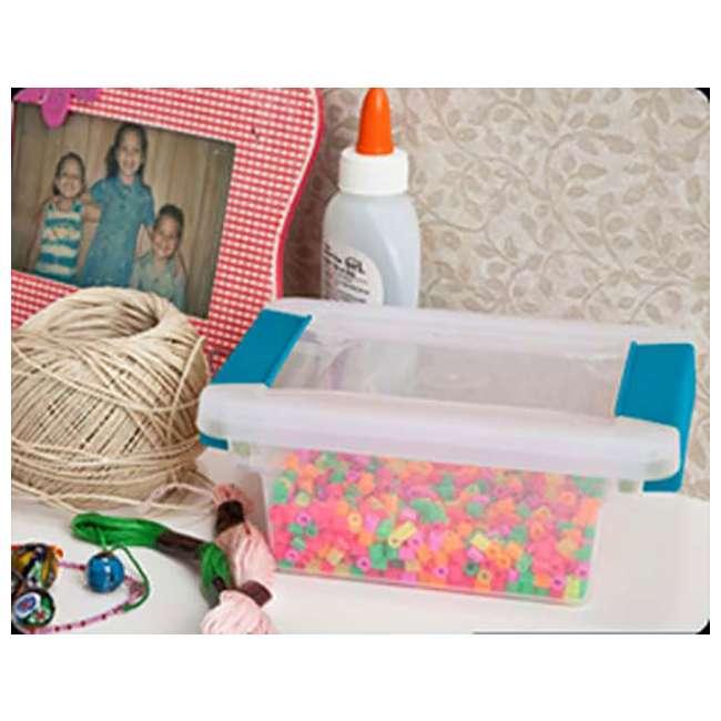 36 x 19698606 Sterilite Mini Clip Box Clear w/ Blue Aquarium Latches (36 Pack) 3