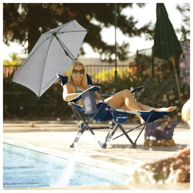 Superb Sport Brella Umbrella Recliner Folding Chair Blue Gmtry Best Dining Table And Chair Ideas Images Gmtryco