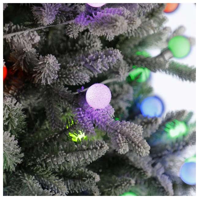 TG76P3B07P05 Home Heritage Victoria 7.5 Foot Flocked Christmas Tree with Color Blast Lights 1
