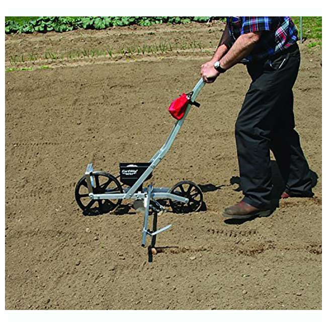 EWAY1001-B + EWAY60010 Earthway 1001-B Garden Seeder and Fertilizer Spreader + Plastic Standard Seed Plates (5-Pack) 3