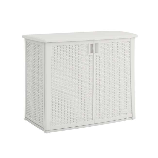 "BMOC4100WD Suncast BMOC4100WD Elements Outdoor 40"" Wide Cabinet, White"