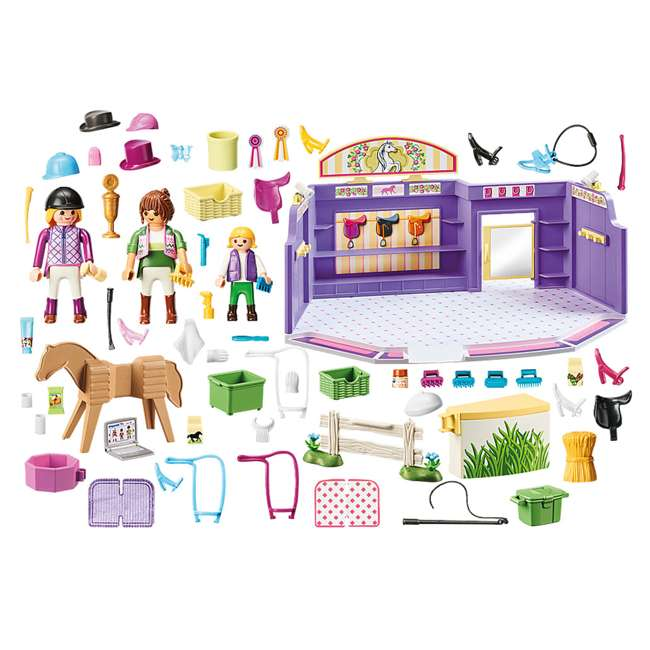 PLAY-9401 Playmobil Horse Tack Shop Kids & Toddler Educational Learning Toy Accessory Set