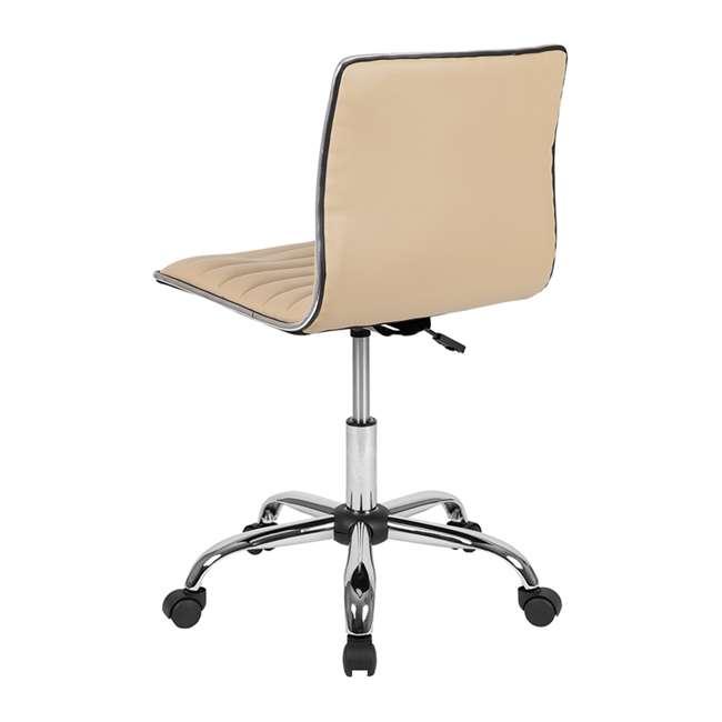 DS-512B-TAN-GG Flash Furniture Swivel Foam Molded Seat Dual Wheel Casters Chair, Glossy Tan 2