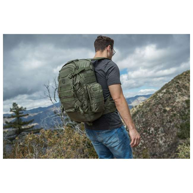 CPG-BP-PHAL-L-S Cannae Pro Gear Phalanx Full Size Duty Helmet Carry Military Backpack Pack, Sage 1