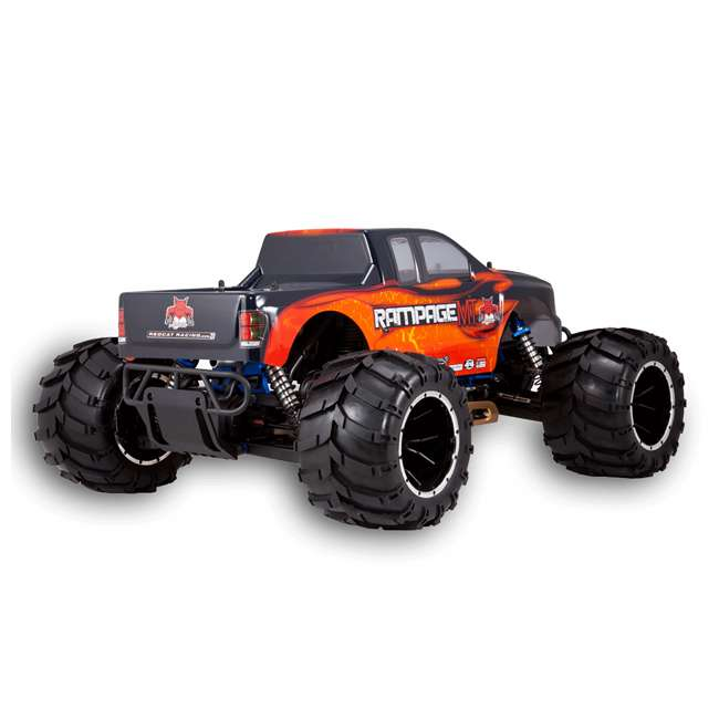RAMPAGE-MT-V3-OF-U-C Redcat Racing Rampage MT V3 Gas Truck RC Truck, Orange/ Flame (For Parts) 2