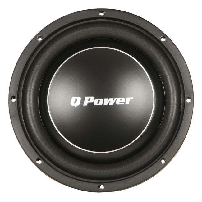 4 x QPF10-FLAT Q Power Deluxe 10 Inch 1000 Watt Flat Subwoofer (4 Pack) 1