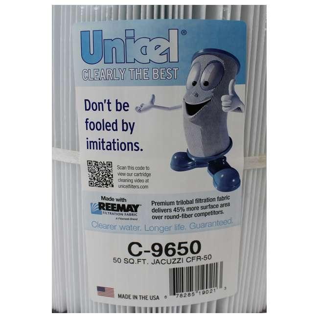 C9650-U-B Unicel C-9650 Jacuzzi Spa Replacement Filter Cartridge CFR 50 Sq Ft PJ50 (Used) 1