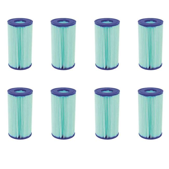 8 x 58476E-BW Bestway Flowclear Anti-Microbial Type III, A/C Filter (8 Pack)