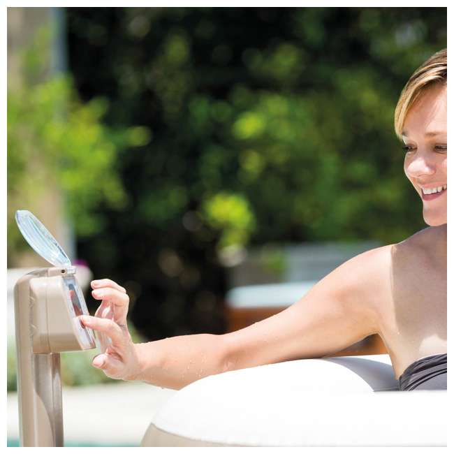 28407E + QLC-14895 Intex Inflatable Pure Spa 6-Person Hot Tub & Chemical Kit 6
