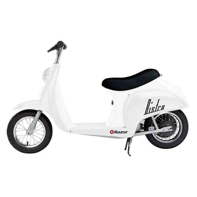 15130608 + 97778 + 96784 Razor Pocket Mod 24V Electric Retro Scooter, Kids Helmet, & Elbow & Knee Pads 1