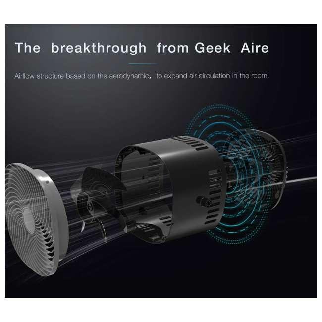 AF1S Geek Aire AF1S 8 Inch Indoor Desk Floor Oscillating Fan with 4 Speeds (2 Pack) 7