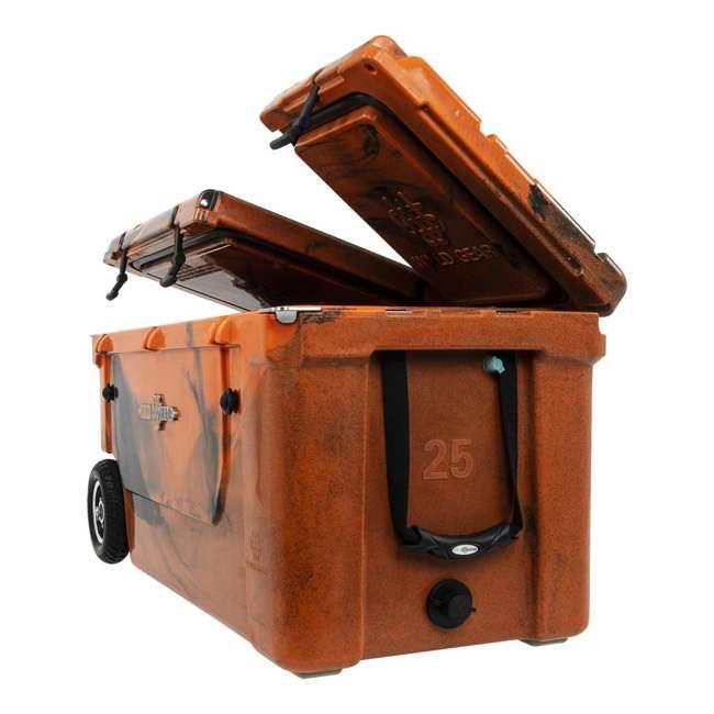 HC75-17OB WYLD 75 Quart Pioneer Dual Compartment Insulated Cooler w/ Wheels, Orange/Black 4