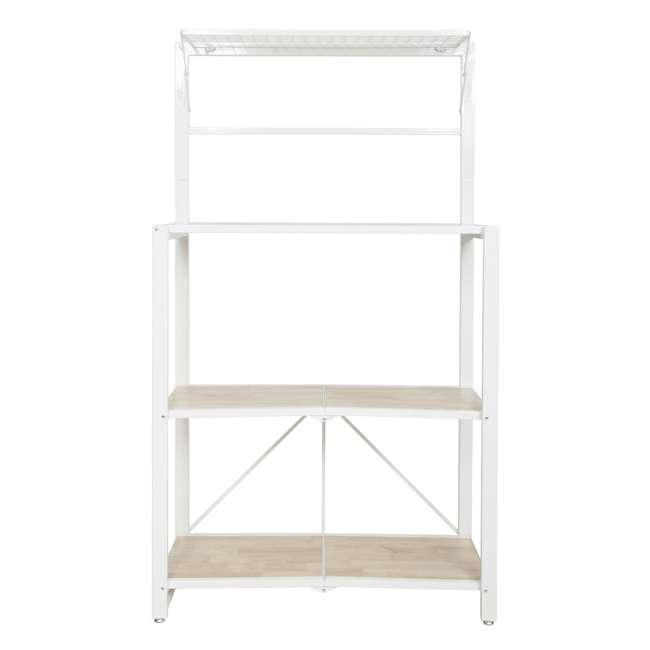 RGB-3M-WHI Origami Baker's Rack with MDF Shelf, White 1