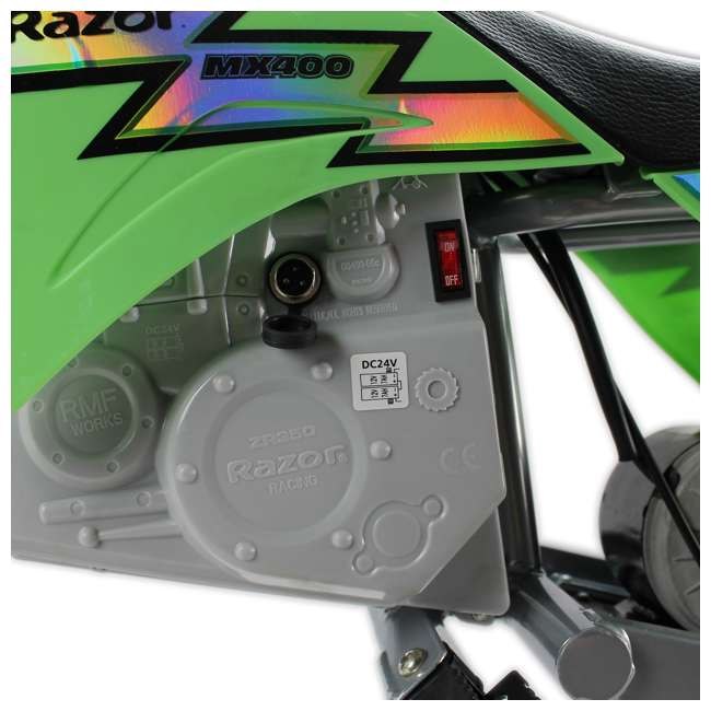 15128030 Razor MX400 Dirt Rocket Electric Motorcycle, Green 4