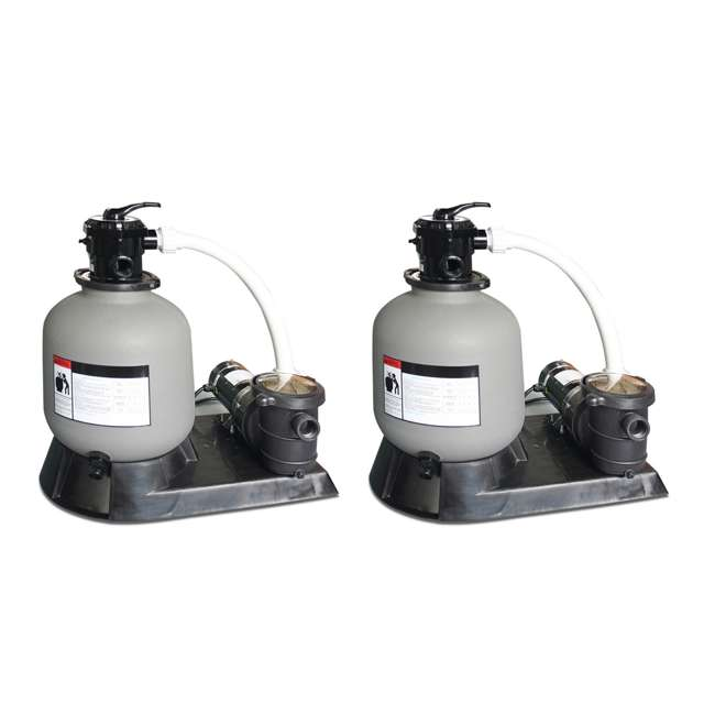 """71610 Sand Master 16"""" Above Ground Pool Sand Filter Pump (2 Pack)"""