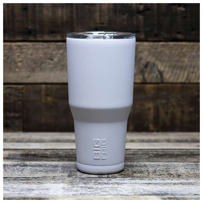 BFT30-WH Big Frig 30 Ounce Hot Cold Stainless Steel BPA Free Tumbler with Lid, White 1
