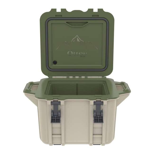 77-54865 OtterBox Venture Heavy Duty Outdoor Camping Fishing Cooler 25-Quarts, Tan/Green 6