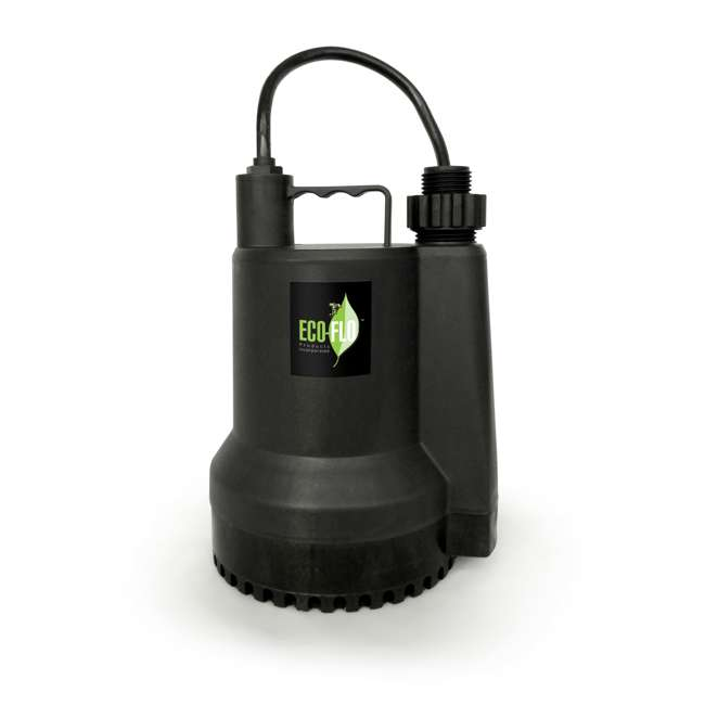 SUP54 Eco Flo SUP54 1/6 HP 1680 GPH Manual Submersible Thermoplastic Utility Pump