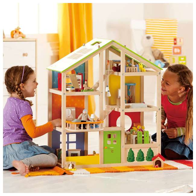 HAP-E3401 Hape All Season House Wooden Dollhouse with Furniture (2 Pack) 5