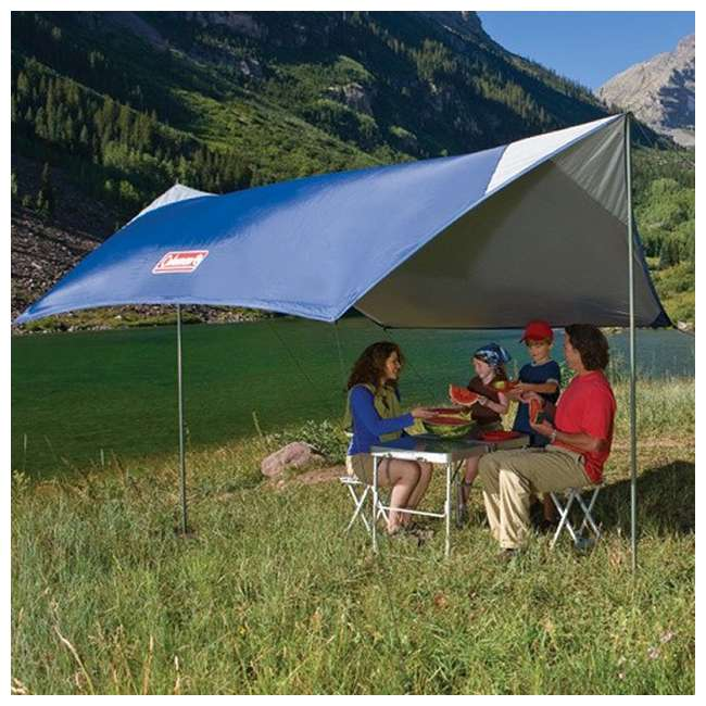 Coleman 2 Pole Sun Shade/ Rain Shelter & Wind Block Camping Tent Canopies  (Pair)