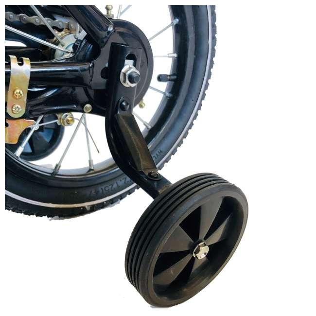 14BK-BLK NextGen 14 Inch Childrens Kids Bike Bicycle with Training Wheels & Basket, Black 2