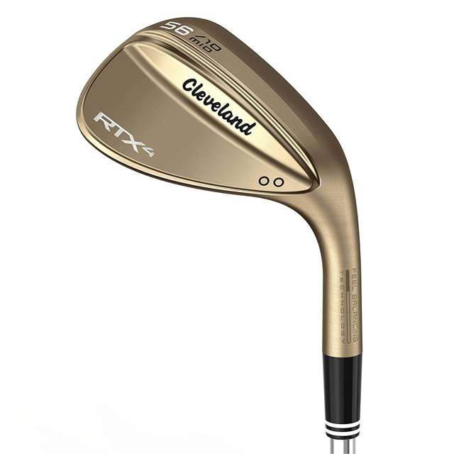 11180914 Cleveland Golf RTX 58-Degree Full Raw Tour Wedge, Right-Handed