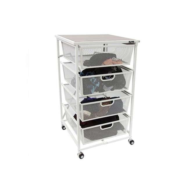 Origami Folding Wheeled 4 Drawer Storage Cart White Dfs 04 White