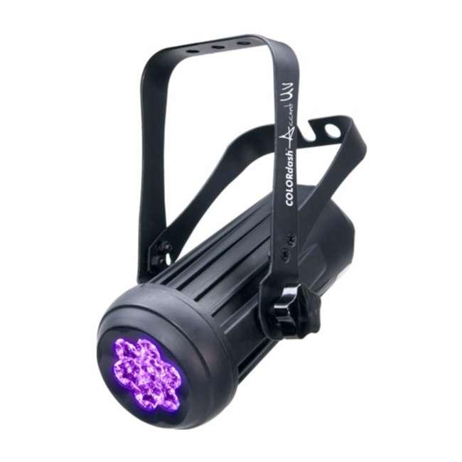 4 x COLORDASH-ACCENTUV 4) Chauvet Colordash Accent UV Led - 2 Ch. Dmx DJ Stage Dance Club Effect Lights 1
