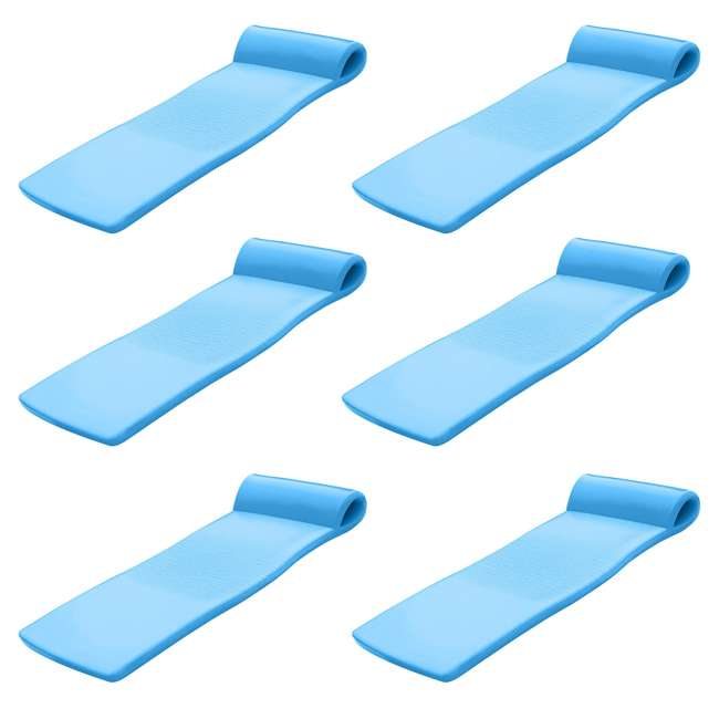 6 x 8020026 Texas Recreation Sunsation Lounger Raft Pool Float, Bahama Blue (6 Pack)