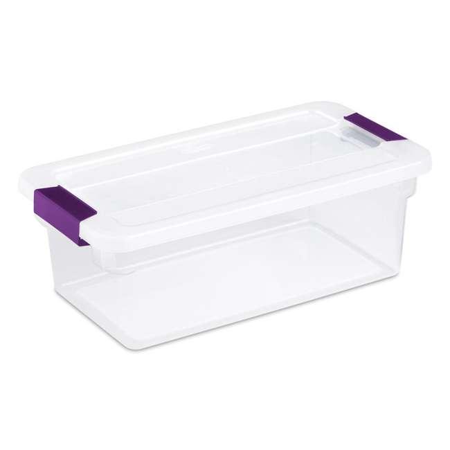 36 x 17511712-U-A  Sterilite 6-Qt ClearView Latch Box Storage Tote Container (Open Box) (36 Pack)