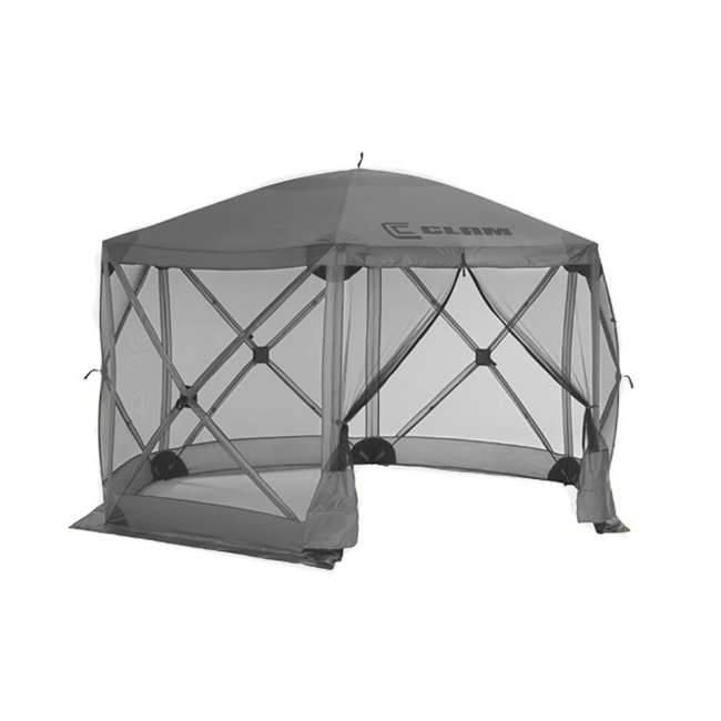 CLAM-ES-114246-U-B Clam Quick Set Escape Portable Camping Outdoor Gazebo Canopy Shelter, Gray(Used) 1