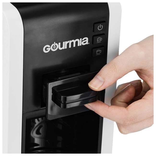 GCM7000W Gourmia 2 Touch Automated 1 Serve Multi Capsule Coffee and Espresso Machine, White 4