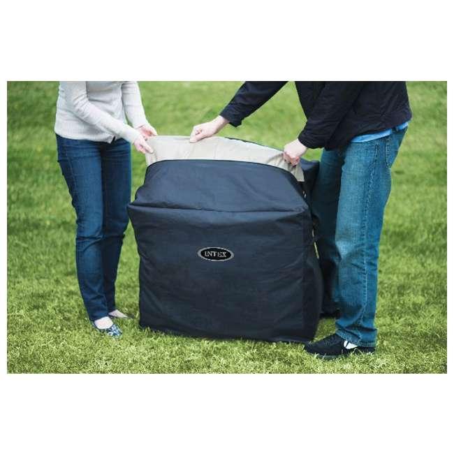 28401E + 3 x 29001E Intex Pure Spa 4-Person Inflatable Portable Hot Tub w/ Six Filter Cartridges 9