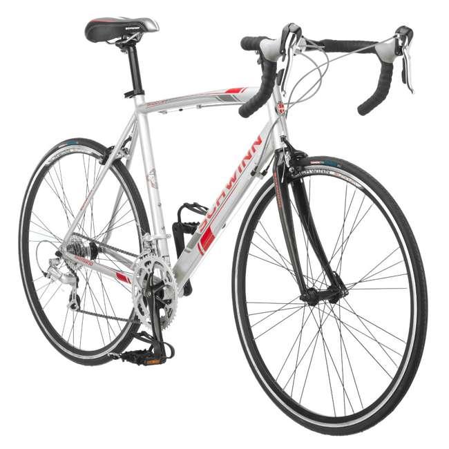 S5491 + 103DN-R Schwinn 700C Phocus 1600 Womens Drop Bar Road Bicycle & 3 Bike Car Trunk Rack 3