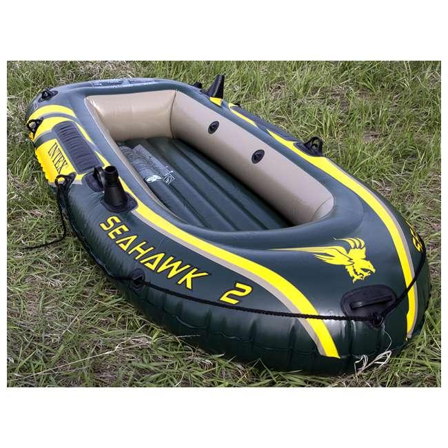 68347EP + 2 x 68631E Intex Seahawk 2 Inflatable Raft & 2 Trolling Motors 8