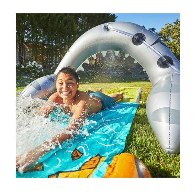 WMO-64762 Wham-O 16-Foot Mega Shark Slip-N-Slide Outdoor Water Slide Toy 3