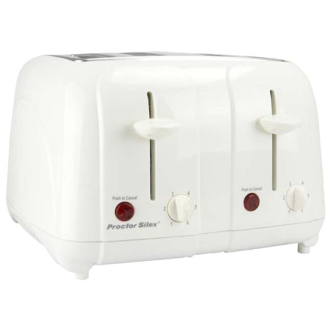 24203Y Proctor Silex 24203Y 4-Slice Cool-Touch Toaster White  2